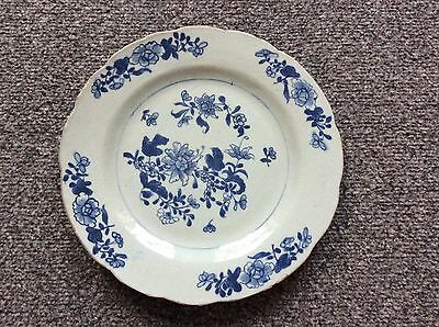 Blue And White Porcelain 18th Century Plate 23cm