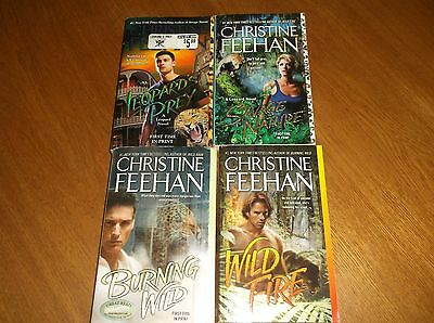 Lot of 4 Paranormal Romances by Christine Feehan ** Leopard people Books 3-6