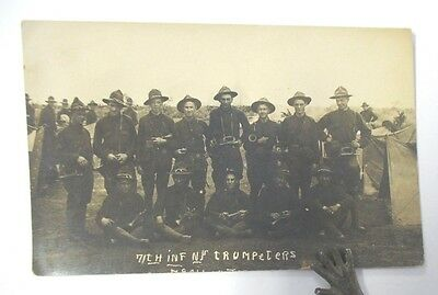 RPPC 7TH INFANTRY NY TRUMPETERS, World War I