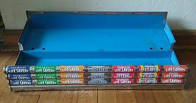 Vintage Life Savers Store Countertop Shelf Metal Display