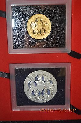 1978 Cayman Islands Six Queens proof coin  $100 Gold and $50 Silver