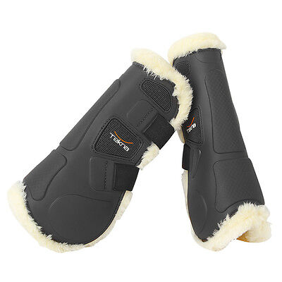 Tekna Synthetic Sheepskin Tendon Open Front Jumping Boots - Black or Brown