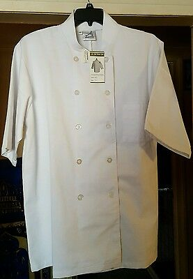 Abacuss Professional Chef Coat Size XL White short sleeve with front pocket