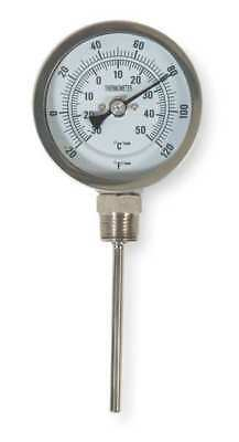 Bimetal Thermom,5 In Dial,-20 to 120F