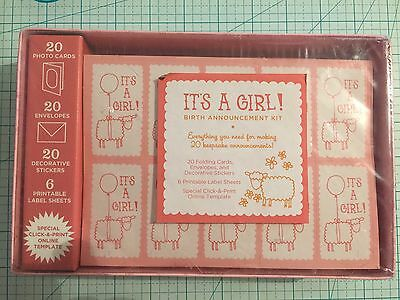 It's a Girl! Kit : Birth Announcement by Chronicle Books Staff and Inc. Staff Co