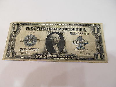 Large Size Silver Certificate Note 1.00  Blue Seal Series Of 1923 ( M86423578B )
