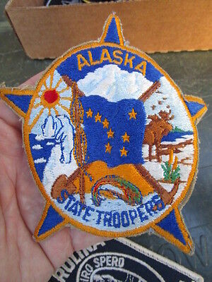 VINTAGE 1960's /70's Alaska State Troopers Sleeve Patch ~ Nice Worn Patch