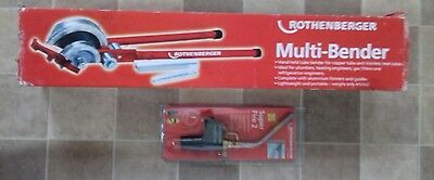 Rothenberger Multi Bender and Rothenberger super fire 2 Torch.