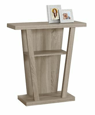 "Monarch I 2453 Accent Table - 32""L / Dark Taupe Hall Console"