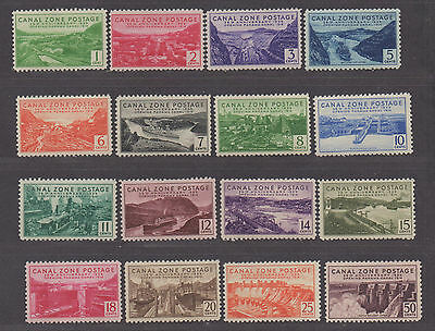 **US Canal Zone, SC# 120-135 MNH VF NICE Complete Set, DG on 2¢, CV $162.75