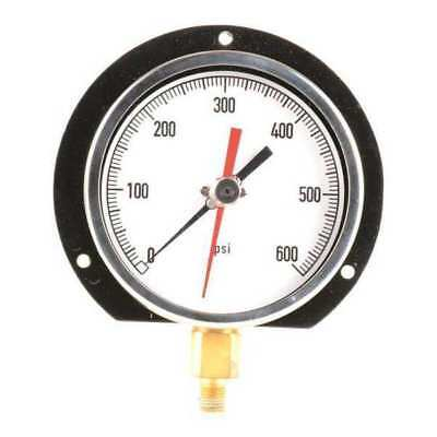 ZORO SELECT 11A503 Pressure Gauge,Max. Reading,4-1/2 In