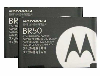 2X Replacement Batteries BR50 for Motorola RAZR V3 V3c V3i V3m V3r V3t PEBL U6