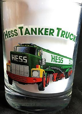 "Hess Toy Truck Glass ""Tanker Truck"" 1996 Classic Truck Series 3 1/8"" by 4 1/8"""