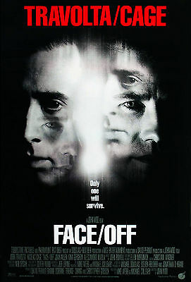 Face/off (1997) Original International Movie Poster  -  Rolled  -  Double-Sided