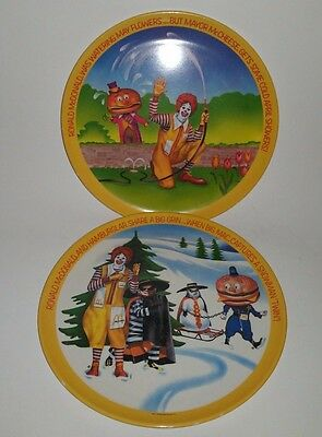 Vintage 1977 McDonalds Ronald McDonald Plate Lexington 2 Plates G7