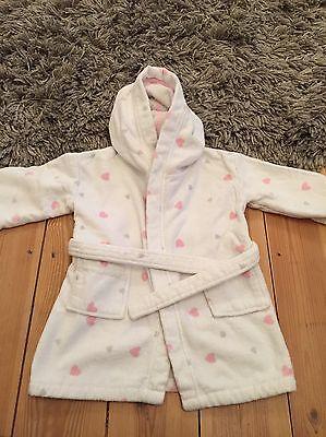 Little White Company Dressing Gown Baby Girl  Age 18-24 Months