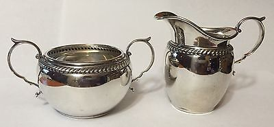 Gorham Sterling Silver Sugar Bowl & Creamer Set
