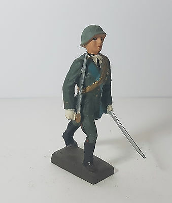 Lineol 7,5cm marching Italian officer (no Elastolin)