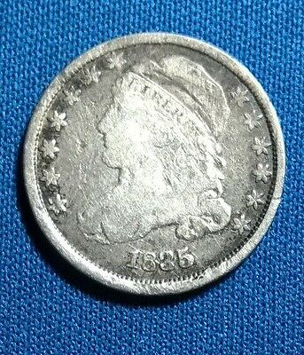 1835 Capped Bust Dime (Vf) Liberty And Details Sharp !