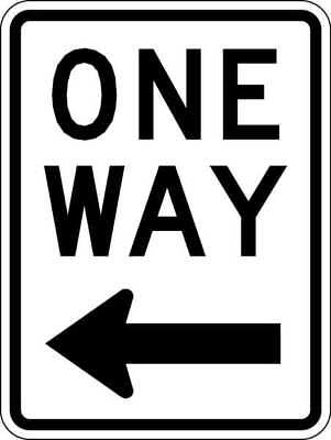 TAPCO 373-04761 Traffic Sign, 24 x 18In, BK/WHT, OW, R6-2