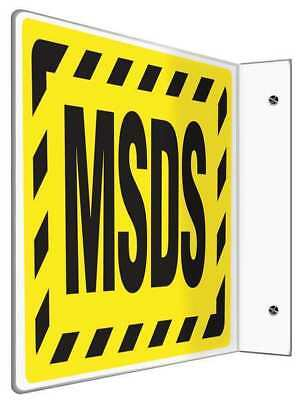 Wall Sign,Plastic,8x12 In,MSDS ACCUFORM PSP486