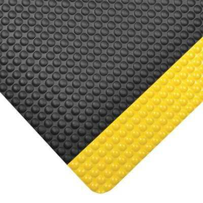 Antifatigue Mat,Black,YllwBrdr,2ft.x3ft. NOTRAX 782S0023YB