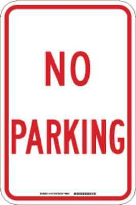Parking Sign,18 x 12In,R/WHT,No PRKG BRADY 78047
