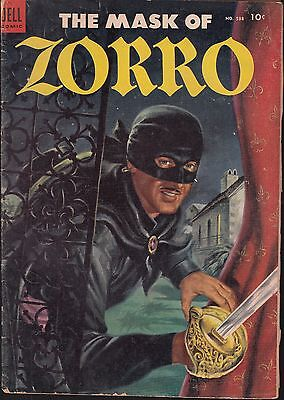 FOUR COLOR..#538 1954 DELL -MASK OF ZORRO KINSTLER-a  MOVIE/ TV SERIES...VG
