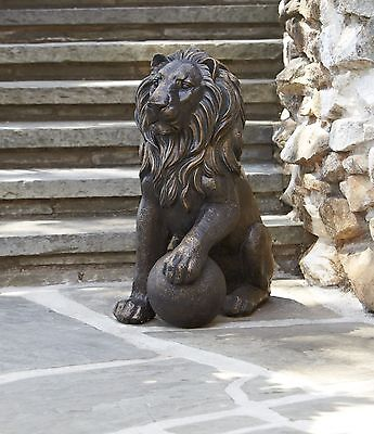 27' Lion Animal Bronze Yard Statue Figurine Garden Outdoor Home Decor Sculpture
