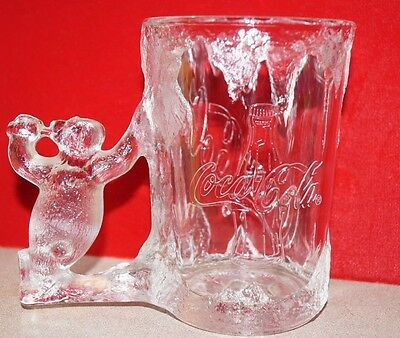 Vintage Coca-Cola Glass/Mug With Bear 1997