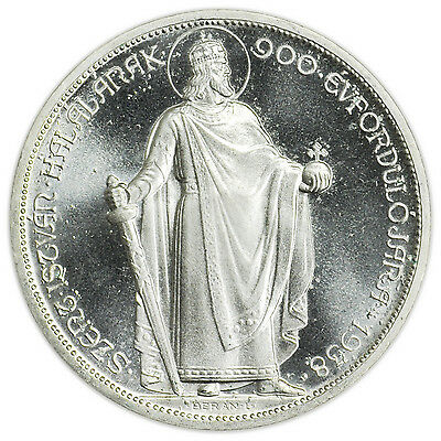Hungary X#Pn13.1 1938BP UP 5 Pengo Uncirculated Proof Coin St. Stephen [3127.73]