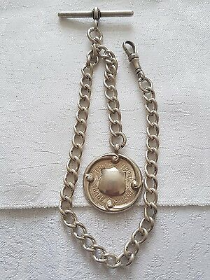 Solid Silver Albert Chain
