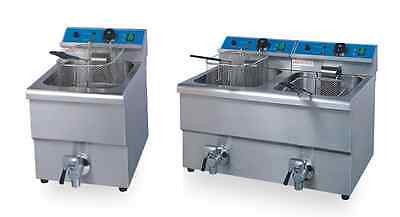 8Liter Single or Double Tanks Electric Commercial Deep Fryer With Oil Valve