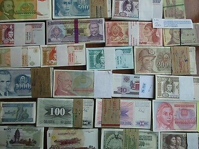100 Worldwide Banknotes Cir. And Unc. Each Set Will Have And Error Banknote