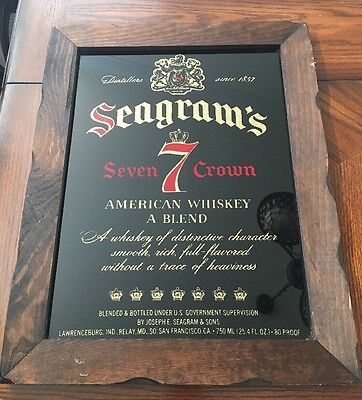 Seagram's 7 Seven Crown American Whiskey Bar Sign