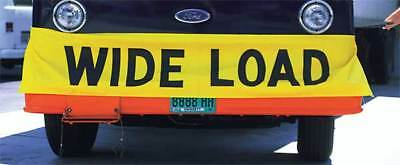 Wide Load Banner,Black on Yellow,18x96In