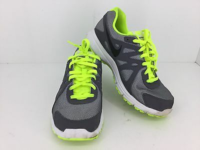 Nike Revolution 2 Youth Running Shoes In Grey/ Neon Green Size 6Y