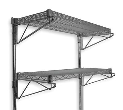 Wall Mounted Wire Shelving, Chrome , 2HGE2