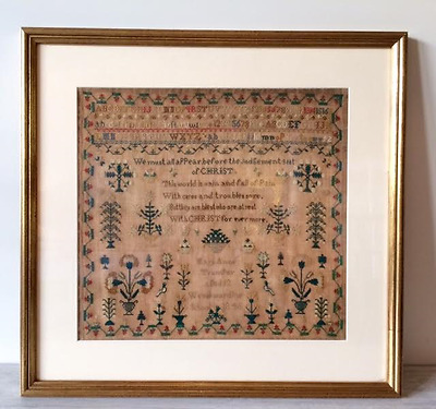 Early Victorian Family Sampler of Mary Anne Trumper - 1846 Wrockwardine