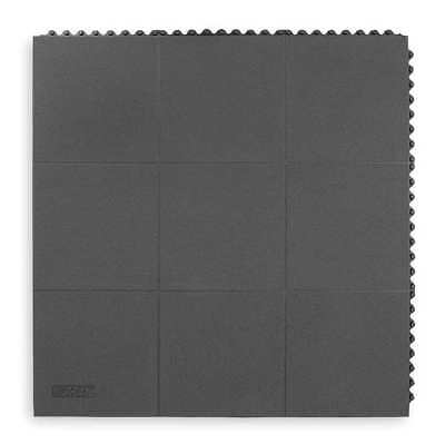 Antifatigue Mat,Black,3ft. x 3ft. NOTRAX 661S0033BL