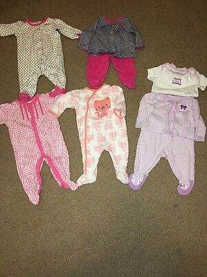 Baby Girl Lot Pajamas Size 3 Months