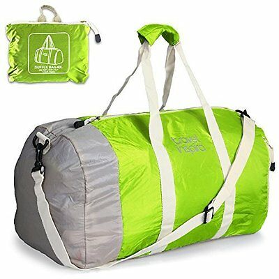 Foldable Travel Luggage Duffle Bag Lightweight for Sports Gym Vacation Green