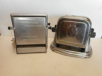 Two Vintage Metal Toasters One Bersted Model No. 71/One Old Aluminum No Cords!