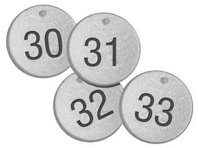 ACCUFORM SIGNS TDL150 Numbered Tags,1-1/2In,Round,1 to 25,PK25