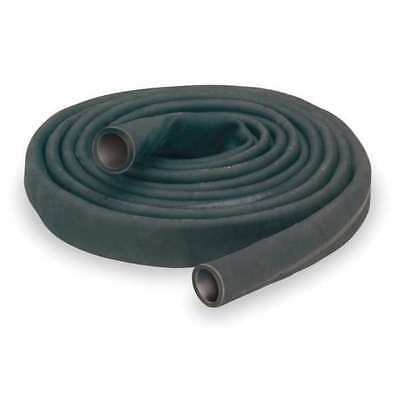 """2-1/2"""" ID x 100 ft Rubber Water Discharge Hose BK ZORO SELECT 1ZLJ2"""