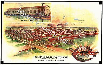 New Oliver Chilled Plow Works South Bend, Indiana Laminated Poster  Before 1929