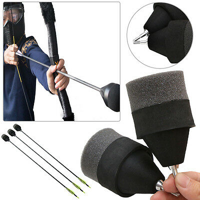 1~30PCS 4.25 Black Sponge Foam Tipped Arrow For Larp Archery Battle Tagging Game