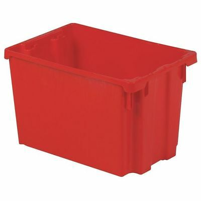 "Red Stack and Nest Bin, 19-1/2""L x 13""W x 12-1/8""H LEWISBINS SN2013-12 RED"
