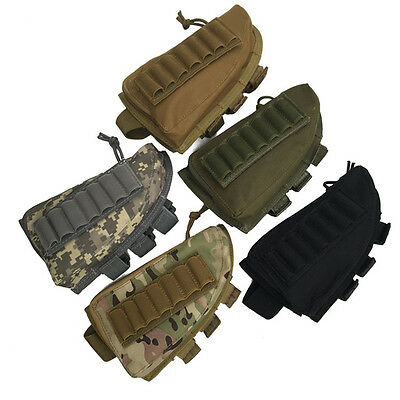 Tactical Military Hunting Rifle Bullet Shotgun Stock Pouch Bag Holder Cheek Pad