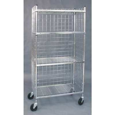 1UMC7 Wire High Cart, 3 Sided, 24 x 60 In
